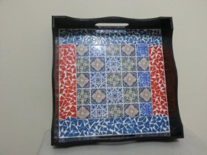Bandeja Luciane (com azulejo)