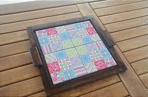 Bandeja Quadrada (com 4 azulejos)