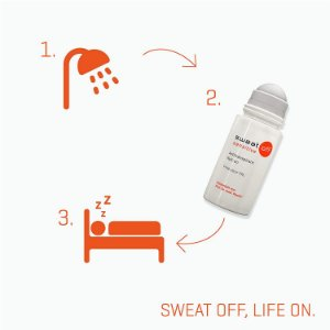 SWEAT-OFF ROLL-ON 50ml SENSITIVE (P/ HIPERIDROSE - AXILAS) / SEM ÁLCOOL