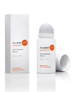 SWEAT-OFF ROLL-ON 50ml SENSITIVE (P/ HIPERIDROSE - AXILAS) / SEM ÁLCOOL - C/ PEQUENO VAZAMENTO E/OU CAIXA DANIFICADA