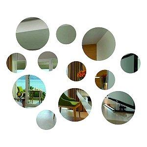 Espelho Decorativo Kit 12 peças Redondas Pequeno
