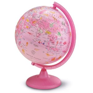Globo Terrestre Com Luz - 25 Cm - Pink Zoo - Tecnodidattica