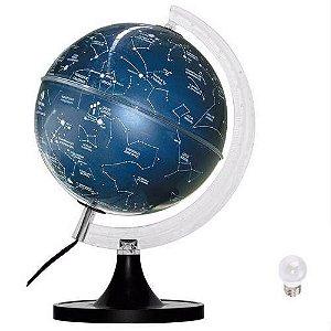 Globo Terrestre Planisfério Celeste Iluminado  Abajur 21cm