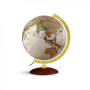 Globo Terrestre Gold Executive Iluminado Abajur 30cm