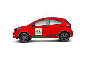 Adesivo Personalizado 30x30cm 2 Unidades Logo Para Carro