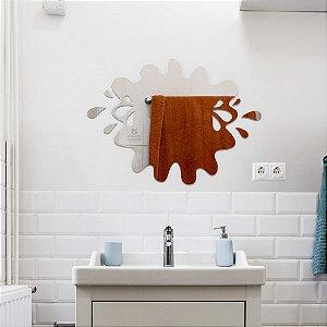Espelho Decorativo Banheiro 50cm Acrílico Splash