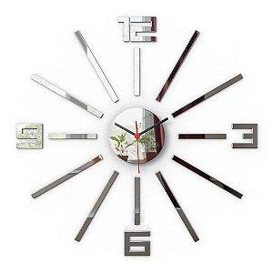 Relógio Parede Espelho Moderno 35cm de diâmetro