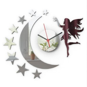 Relógio de parede infantil Fada Grande