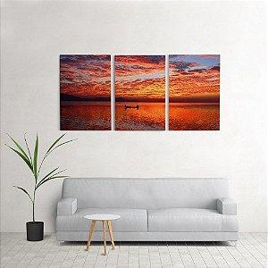 Quadro Decorativo Para Sala 60x120cm Pescador Quarto Grande