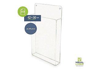 Display A3 Acrílico Com Bolso Porta Folha Folder Folheto