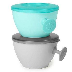 Kit Bowls Easy-Grab Cinza e Verde- Skip Hop