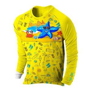 Blusa UV Infantil Authentic 6 Anos Starfish - ProLife