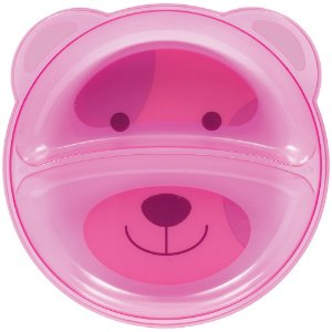 Prato Ursinho com Divisória Rosa - Buba