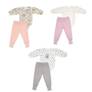 Conjunto Body e Calça Menina Estampado - D'Bella For Baby