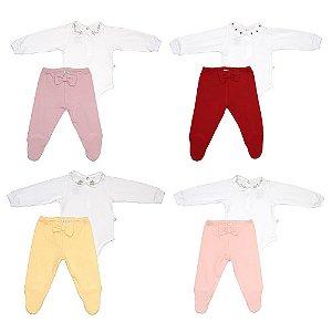 Conjunto Body e Calça Menina Luxo - D'Bella For Baby