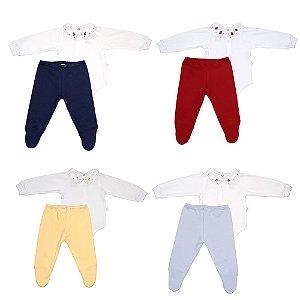 Conjunto Body e Calça Menino Luxo - D'Bella For Baby