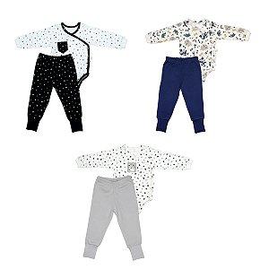 Conjunto Body e Calça Menino Estampado - D'Bella For Baby