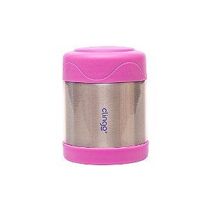 Pote Térmico Aço Inoxidável Rosa - Clingo