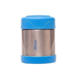 Pote Térmico Aço Inoxidável Azul - Clingo