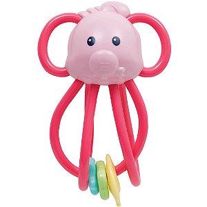 Chocalho Elefantinho Divertido Rosa - Buba