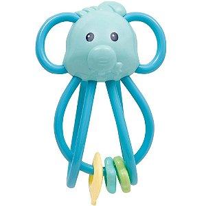 Chocalho Elefantinho Divertido Azul - Buba