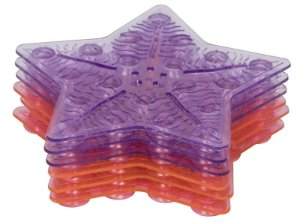 Tapete de Banho Antiderrapante Mini 6 Peças Rosa - Kababy