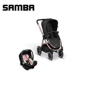 Carrinho de Bebê Samba Rose Gold com Bebê Conforto - ABC Design