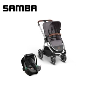 Carrinho de Bebê Samba Asphalt com Bebê Conforto - ABC Design