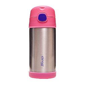 Garrafa Térmica em Aço Inoxidável Rosa - Clingo