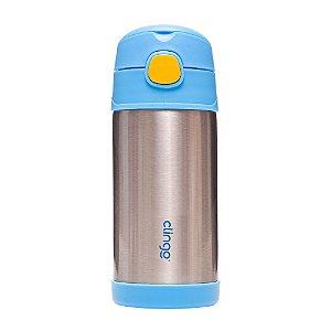 Garrafa Térmica em Aço Inoxidável Azul - Clingo