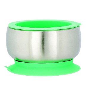 Tigela de Inox e Anel de Silicone Verde - Avanchy