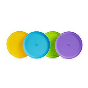 Conjunto com 4 Unidades de Pratos Coloridos - Munchkin