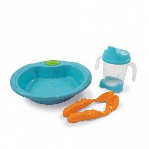 Kit Alimentação Colore Azul - Adoleta Bebê