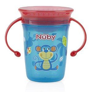 Copo Decorado com Alça 360º Azul Macaco - Nûby