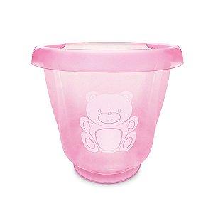 Ofurô para Bebê Fofura Translucido Rosa Bebê - Adoleta Bebê