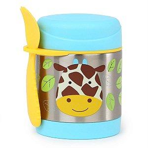 Pote Térmico com Talher  Zoo Girafa - Skip Hop