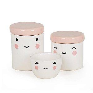 Kit Higiene 3 Peças Rostinho Rosa - Modali Baby