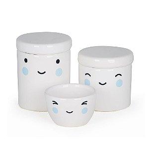 Kit Higiene 3 Peças Rostinho Azul - Modali Baby