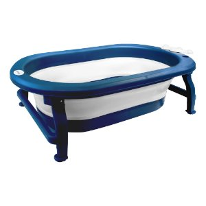 Banheira Portátil Dobrável Coroa Azul - Clingo