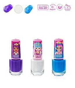 Kit 3 Esmaltes Infantil Princesas - Magia de Princesa
