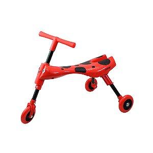 Triciclo Infantil Dobrável Vermelho e Preto - Clingo