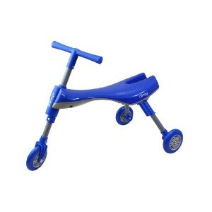 Triciclo Infantil Dobrável Azul e Cinza - Clingo