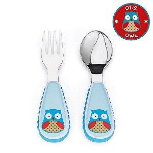 Set de Talher Skip Hop Linha Zoo Garfo e Colher Coruja Otis Owl