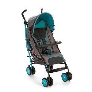 Carrinho de Bebe Guarda Chuva Umbrella Ride Cosco Azul Aqua Blackframe