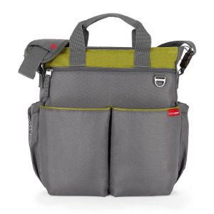 Bolsa Maternidade Diaper Bag Duo Signature Grey Green Charcoal Lime - Skip Hop