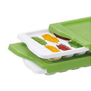 Bandeja com Tampa de Silicone para Armazenamento de Alimentos Freezer Verde - Oxo tot