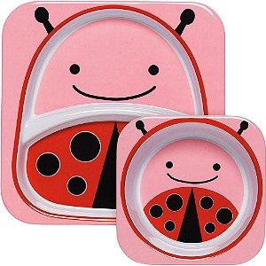 Set de Pratos Skip Hop Linha Zoo Joaninha Livie Ladybug