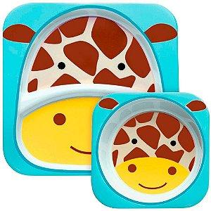 Set de Pratos Skip Hop Linha Zoo Girafa Jules Girafe