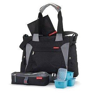 Bolsa Maternidade Skip Hop Diaper Bag Bento Tote Black Preta Com Bolsa Térmica
