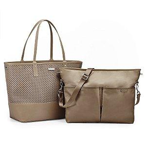 Bolsa Maternidade Diaper Bag Duet 2 em 1 Taupe Bege - Skip Hop